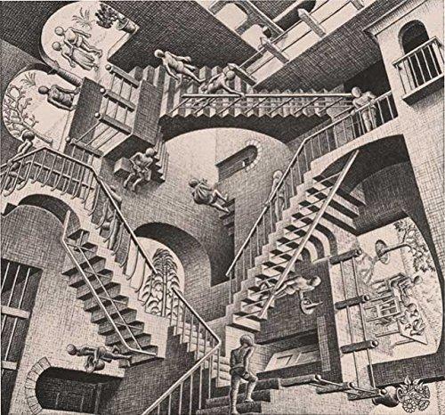 Escher Poster cod.11 cm 70x70 Poster Affiche Plakat Fine Art Il Negozio di Alex