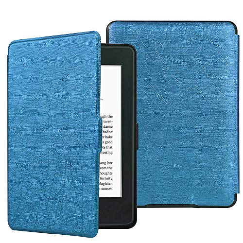 HiveNets Custodia rigida Kindle Paperwhite Premium Silk Cover più sottile e leggera con Auto Wake/Sleep per Amazon 2018 New Generation Blu