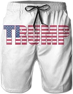 Trump Donald Trump USA Flag Men Summer Casual Swim Trunks Shorts Quick Dry Swim Trunks with Pockets