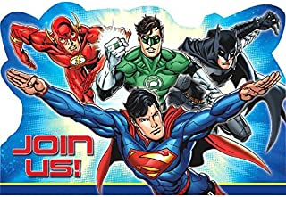 Justice League Postcard Invitations, Party Favor