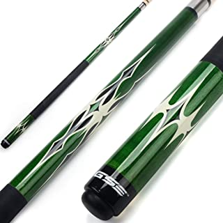 GSE Games & Sports Expert 58 2-Piece Canadian Maple Billiard Pool Cue Stick(4 Colors,  18-21oz)