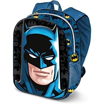 KARACTERMANIA Batman Knight-3D Backpack (Small) Kinder-Rucksack, 31 cm, 8.5 liters, Mehrfarbig (Multicolour)