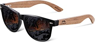 AMEXI Men and Women Polarized Wooden Sunglasses-men and Women are Equipped With mirror Polarized Lenses-Bamboo Sunglasses