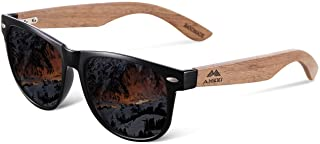Men and Women Polarized Wooden Sunglasses-men and Women are Equipped With mirror Polarized...