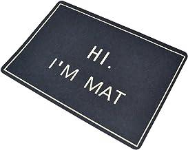 Pinji Doormat Outdoor Indoor Rubber Door Mats Non Slip Rug Carpets for Front Door Kitchen Bedroom Garden Hi I'm Mat 23.6(L...