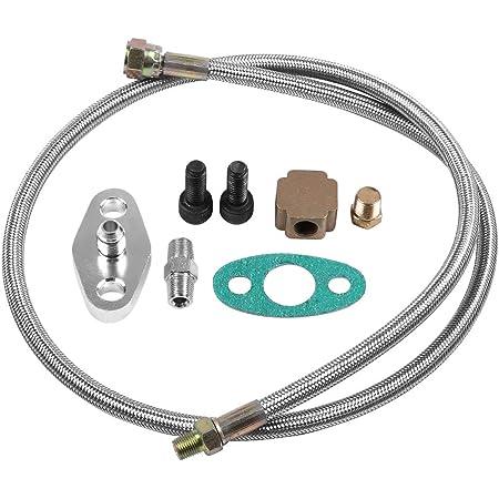 Turbo Ölleitung Aramox 1 8 Npt Adapter Turbo Ölversorgungsleitungssatz Turbo Ölrücklaufleitung Komplettsatz Für T3 T4 T3 T4 Auto