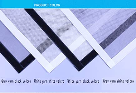 Auto-adh/ésif Moustiquaire Filet Rideau en maille,Brod/é Fermeture /éclair Plein cadre Bande magique Coupe-vent Moustiquaire de fen/être filet-A 90x120cm 35x47inch