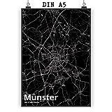 Mr. & Mrs. Panda Poster DIN A5 Stadt Münster Stadt Black -