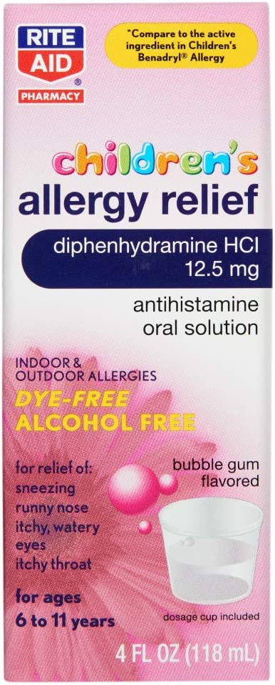 Rite Year-end gift Soldering Aid Children's Allergy HCI Diphenhydramine Bubble Relief