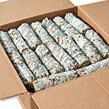 25 White Sage 4' ~ Sage Smudge Sticks for Smudging & Cleansing Energy ~ Bulk / Wholesale ~ Sustainably Grown (25 Pack)