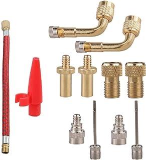 VORCOOL 12 Stks Presta Schraderventiel Pomp Adapter Lucht Naald Bal Opblaasbare Pomp Fietspomp Accessoires Voor Bike Gym B...