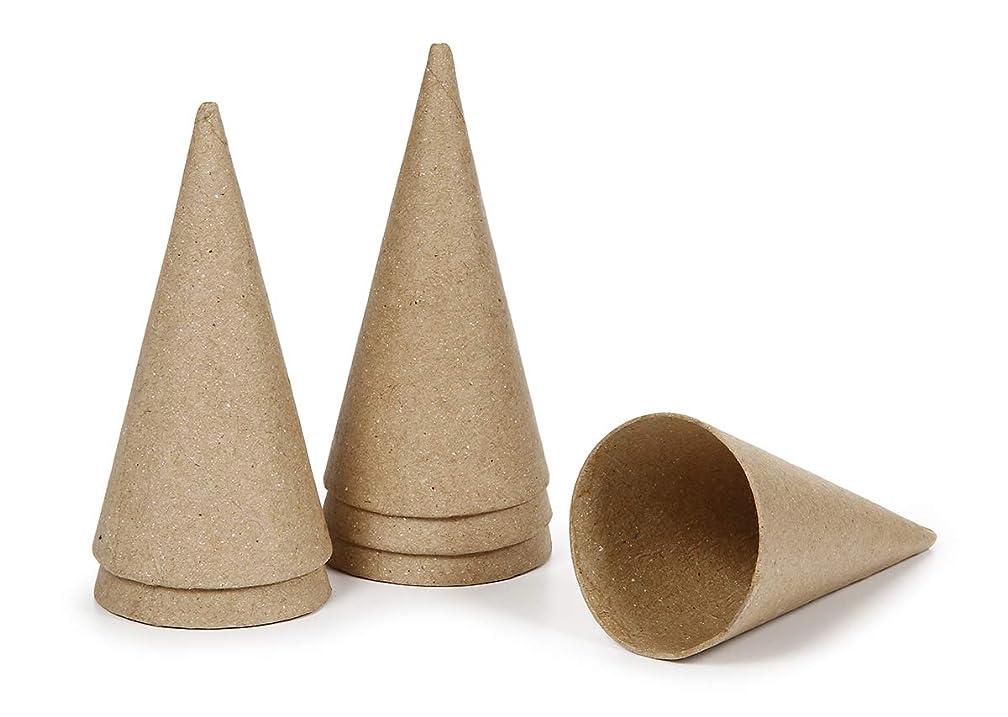 Darice Paper Mache Cone - 4 x 2 inches - 6 Pieces