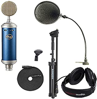 Blue Bluebird SL, mic Stand,XLR Cable,mic Clip, pop Filter,Headphones