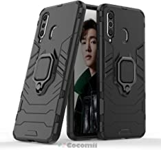 Cocomii Black Panther Armor Galaxy A8s/A9 Pro 2019 Case NEW [Heavy Duty] Tactical Metal Ring Grip Kickstand Shockproof Bumper [Works With Magnetic Car Mount] Cover for Samsung Galaxy A8s (B.Jet Black)