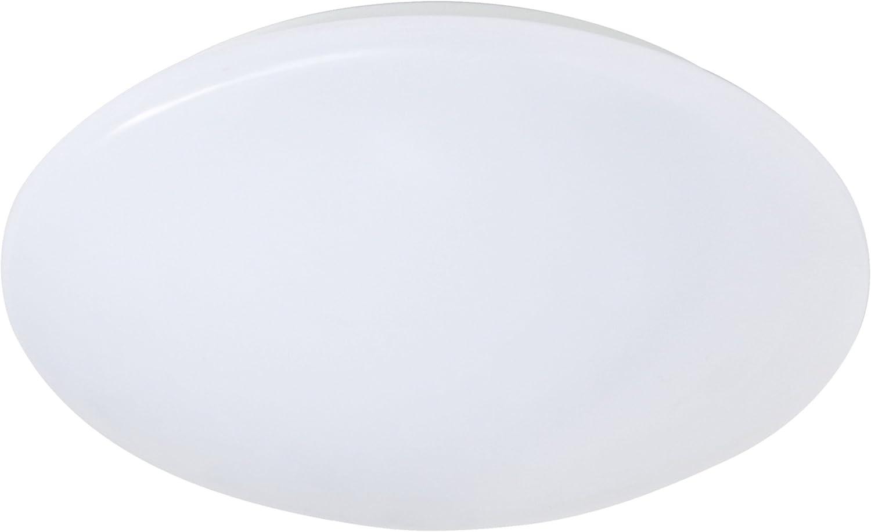 Reality Leuchten LED Deckenleuchte, Kunstoff inklusiv SMD-LED 12 W, 1100 lm, Durchmesser 30 cm, wei R62501201