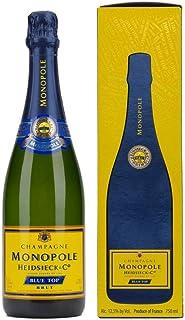 Champagne Monopole Heidsieck Blue Top Brut mit Geschenkverpackung 1 x 0,75 l
