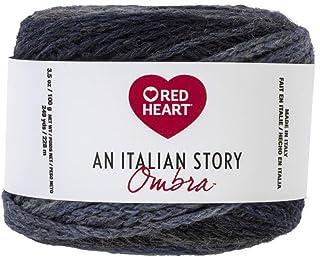 Red Heart Italian Story Ombra Wool Blend Yarn, Tempo