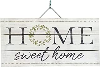 "Imprints Plus Slatted Pallet Wood Sign – 6"" x 12"" Rustic Farmhouse Wall Decor Hand Assembled with Pine Wood – Includes Hanging Hardware and Instructional Card [Home Wreath] [46-03171]"