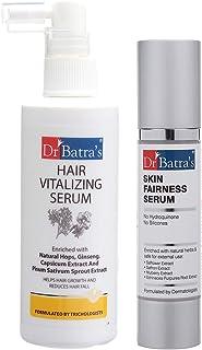 Dr Batra's Hair Vitalizing Serum 125ml and Skin Fairness Serum - 50 g (Pack of 2 for Men and Women)