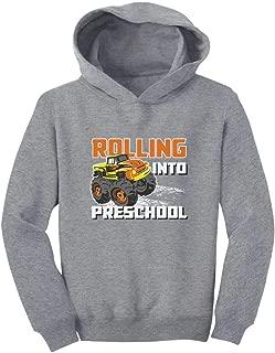 Tstars Rolling Into Preschool Back to School Truck Toddler Hoodie