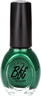 Premium Green Nail Polish 0.5oz, Professional Choices of Color, Glitters, Matte, Holographic, Nail Art, Confetti by Cacee (Emerald Green Pearl, Willow, 442)