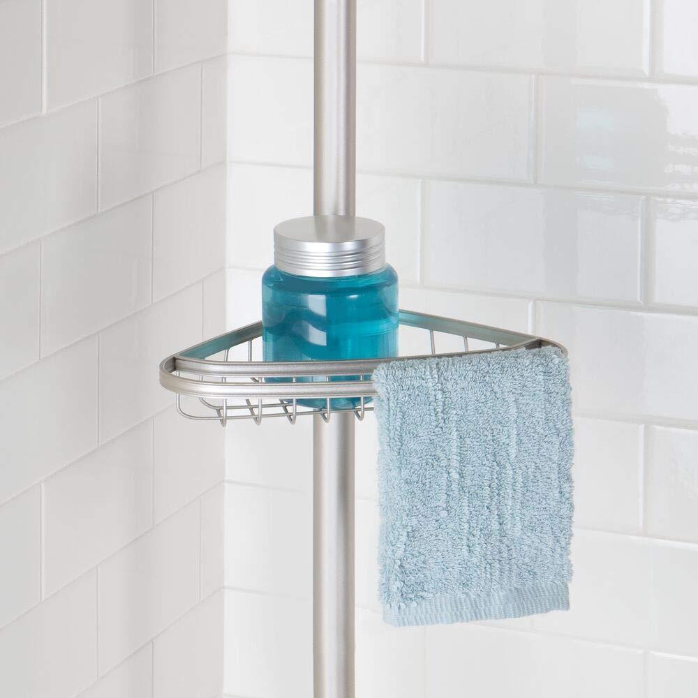 mDesign Organizador de ducha ajustable – Estante para ducha de ...