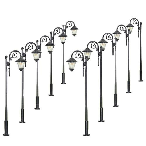 Silber Lampe mit LED, SPUR TT VERSAND FREI !! 5 Lampen