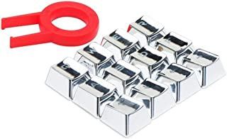 MarinoBIRD 12 Teclas translúcidas retroiluminadas con Extractor de Teclas para teclados mecánicos Teclas de galvanoplastia Resistentes al Desgaste - Plata