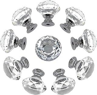 Anladia 4X Boutons Poign/ée Dentelle Zinc en Strass 25//30mm Decoration Tiroir Porte Placard Armoire Meuble Cabinet vis