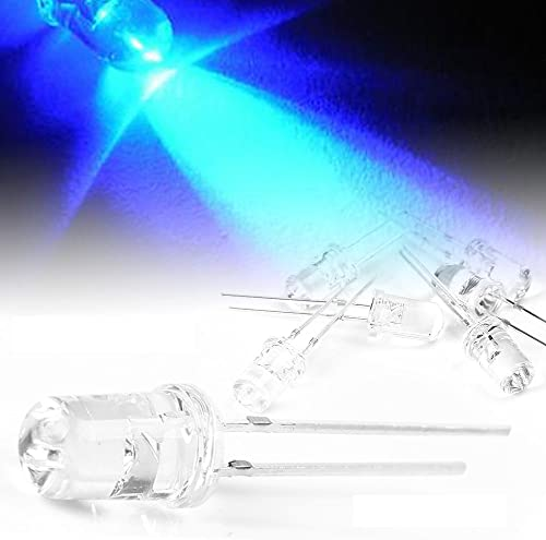 lowest Mallofusa 500 Pieces outlet online sale 5mm LED Lights Emitting Diode Bulbs Super high quality Bright Lamp Kit Blue online sale