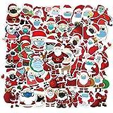BLOUR 50 Uds Navidad Santa Claus Graffiti Pegatinas decoración de Dibujos Animados para Motocicleta monopatín teléfono de computadora