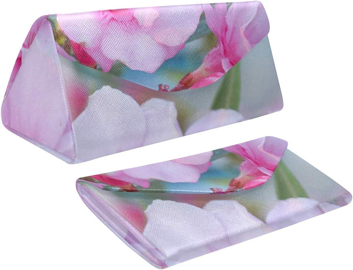 Foldable Sunglasses Ranking TOP16 Case Hard Blurred Flowers Pink Tria Regular dealer Oleander