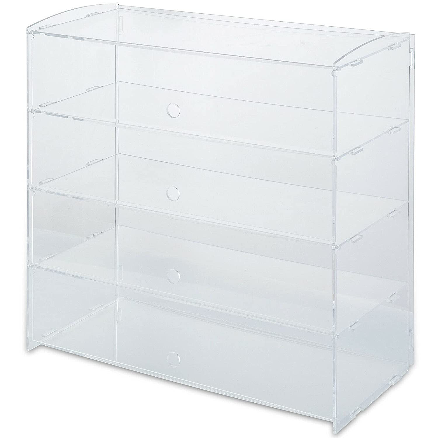 4 Tier Buildable Acrylic Bakery Cabinet Display Pastry Cake New mart Free Shipping Case
