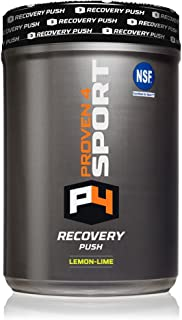 Proven4 Post Workout Supplement and Electrolyte Supplement with bcaa Powder and glutamine - NO Stimulant -Lemon Lime 30 Serv NSF Certified for Sport