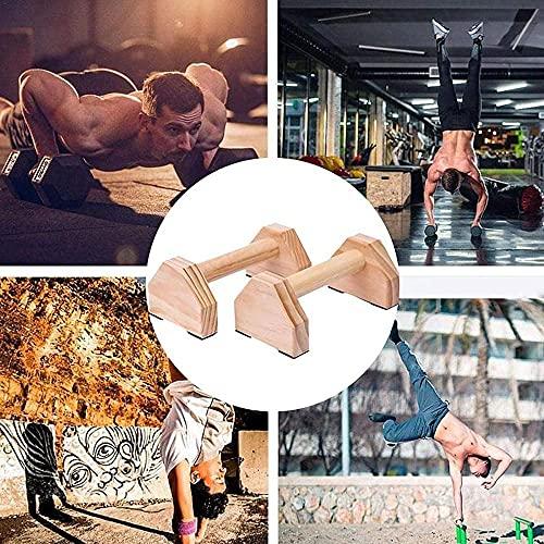 Barre parallele Paralleli in legno Parallels Versatile Pezzo di allenamento Apparecchiature ideali per ginnastica Forza Allenamento ed esercizi 40 cm-30 cm.