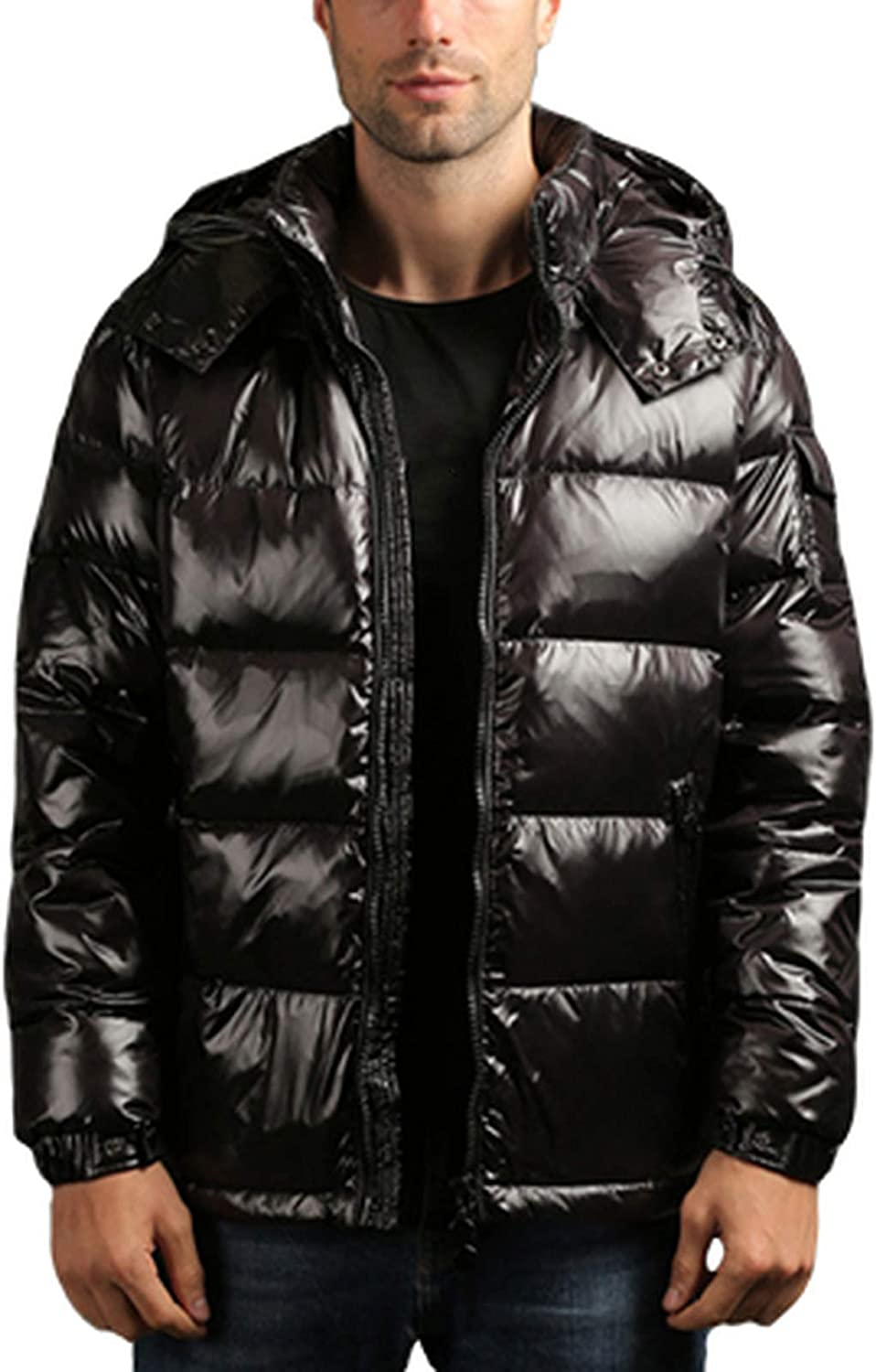 Men'S Down Jacket 67% OFF of fixed price Short Shiny Thickened D Classic White 90% Free shipping anywhere in the nation Duck