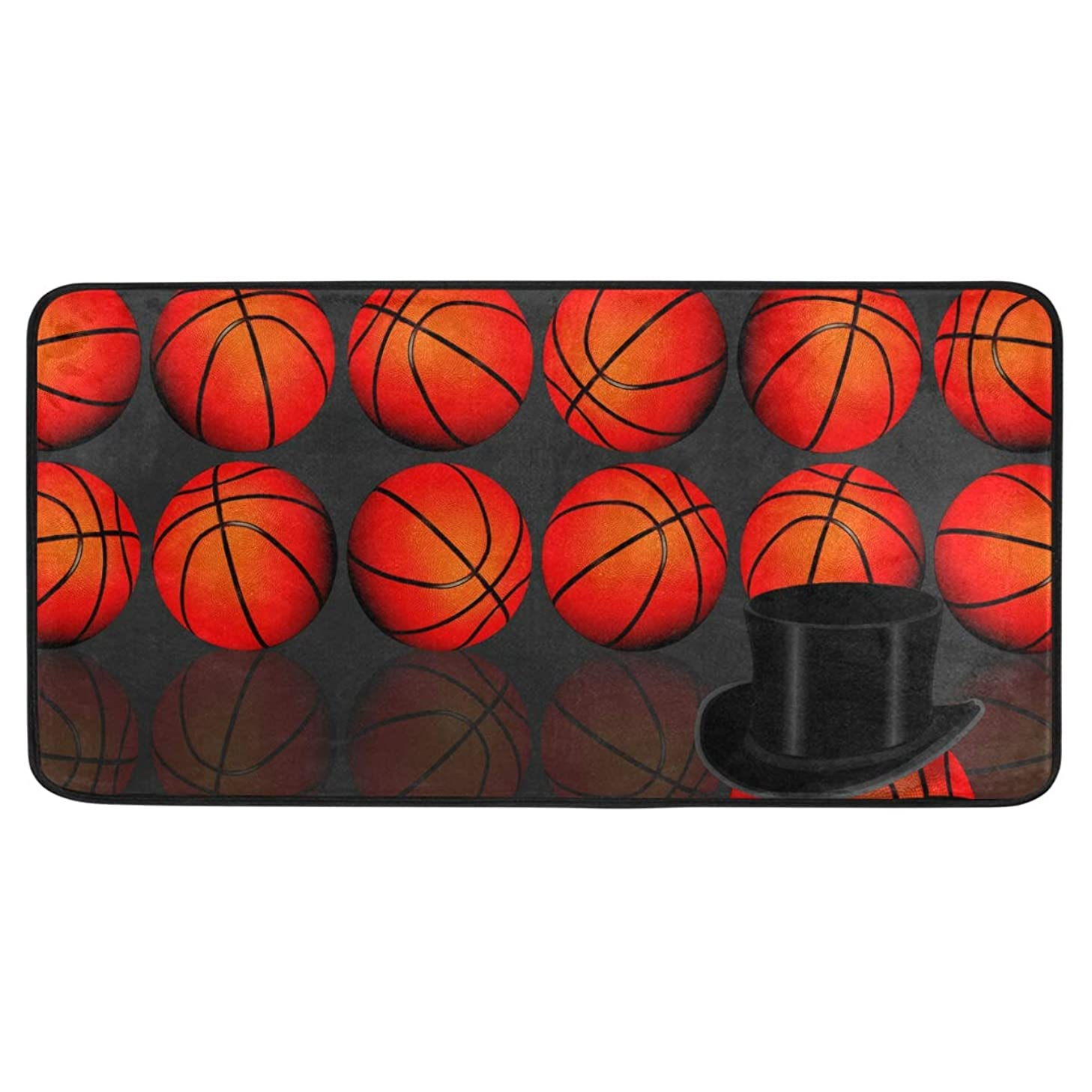 ALAZA Basketball Standing Mat Kitchen Rug Mat, Anti Fatigue Comfort Flooring, Commercial Grade Pads, Waterproof, Ergonomic Floor Pad, Rugs for Office Stand Up Desk, 39x20in