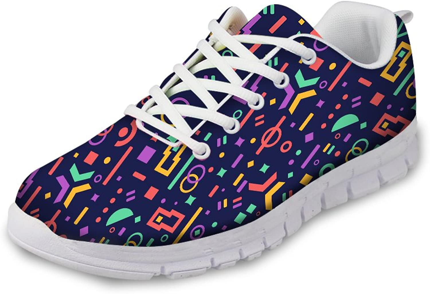 Women Sneaker Comfort Sports shoes Stylish Print Casual Lace Up Slip On shoes