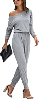 Women's Casual Long Sleeve Jumpsuit Crewneck One Off...