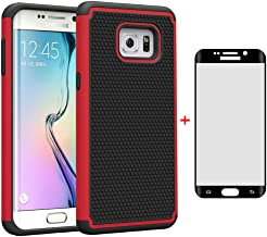 Asuwish Phone Case for Samsung Galaxy S6 Edge Plus with Tempered Glass Screen Protector Cell Accessories Rugged Heavy Duty Full Body Rubber Slim Hard Cover Glaxay S6edge + S 6edge 6s 6 Edge+ Women Men