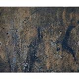 decomonkey Fototapete selbstklebend metaleffect 245x175 cm XL Selbstklebende Tapeten Wand Fototapeten Tapete Wandtapete klebend Klebefolie Dunkelblau Braun Rost FOB0121a5XL