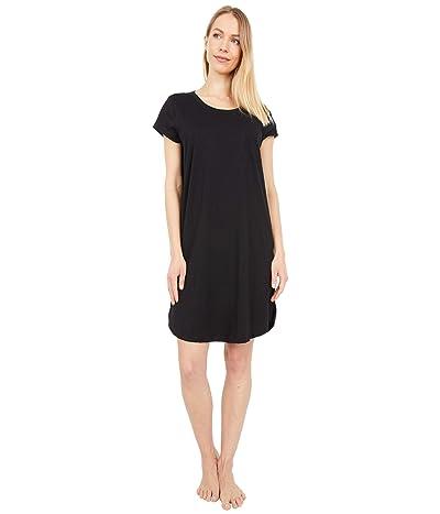 Skin Carissa Organic Pima Cotton Sleepshirt (Black) Women