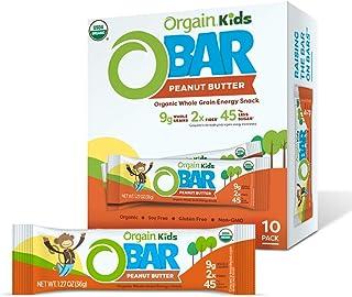 Orgain Organic Kids Energy Bar, Peanut Butter - Great for Snacks, Vegan, 7g Dietary Fiber, 4g Protein, Dairy Free, Gluten ...