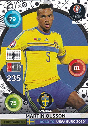 Panini Adrenalyn XL Road to UEFA Euro 2016 – Martin OLSSON Fans Favourites Carte