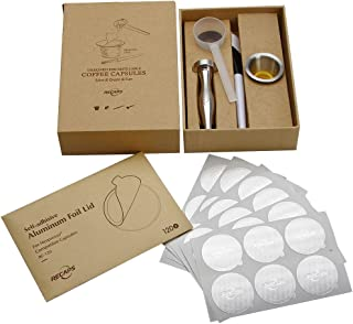 RECAPS Reusable Filters Stainless Steel Refillable Pods Compatible with Nespresso Machines (OriginalLine Compatible) (1 Po...