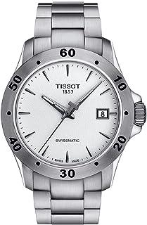 Tissot V8 Mens Menial Silver Silver Dial Watch T1064071103101