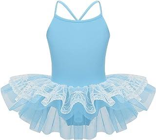 iEFiEL Vestito da Balletto Ragazza Bambina Leotard Body Ginnastica Danza Classica Dancewear Senza Manica Aderente Due Pezzi Pantaloncino Elegante Bodysuit 5-14 Anni
