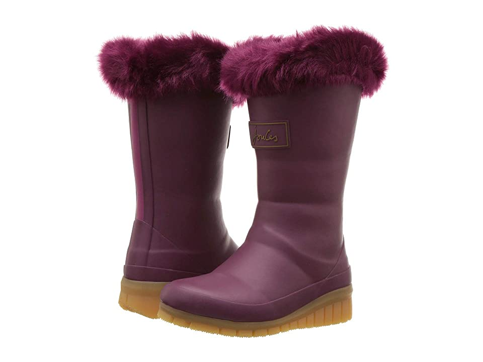 Joules Kids Downtown Tall Padded Winter Welly Boot (Toddler/Little Kid/Big Kid) (Damson) Girls Shoes