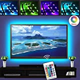 LED TV Backlights, 5V 2M/6.6ft USB Powered Bias Lighting Kits with RF Remote Controller (16 Colors and 4 Dynamic Modes) for HDTV,PC Monitor and Home Theater
