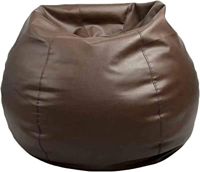 Bean Bag Cover In Black Faux Leather Large Standard